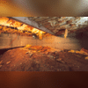This homeowner had a dirt crawl space with moldy insulation that need to be replaced.