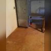 There was water damage throughout the basement from repeated basement flooding.