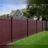 This is a darker colored fence and it's still vinyl! It gives you the wood fence feel but it doesn't rot or mold!