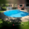 With the tripping hazards repaired the customer and his family can safely use the pool again