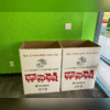 The donation boxes for our Toys for Tots event