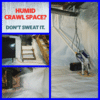 Crawlspace Weatherization in Shaftsbury, Vermont, by Matt Clark's Northern Basement Systems.