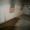 Water seepage through the walls (Before)