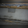 You can clearly see here where moisture if seeping through the concrete walls. Just because there is concrete there, doesn't mean moisture can get in!