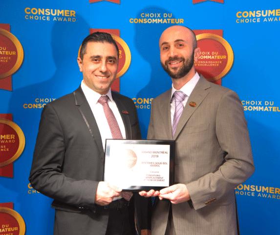 Systèmes Sous-sol Québec remporte enfin le Prix du Choix du Consommateur