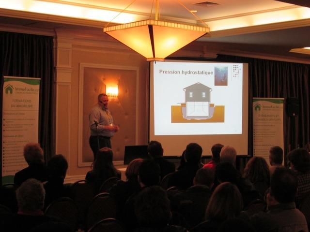 Sylvain Tassé explaining foundation problems