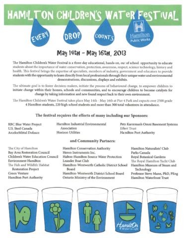 Omni Basement Systems Sponsors the Hamilton Children's Water Festival - Image 1
