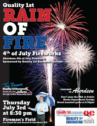 4th of July Rain of Fire Sponsored by Quality 1st Basement Systems! - Image 1