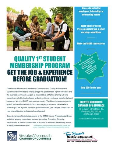 Back to School with the Chamber! Quality 1st Student Chamber Membership Scholarship Program - Image 1