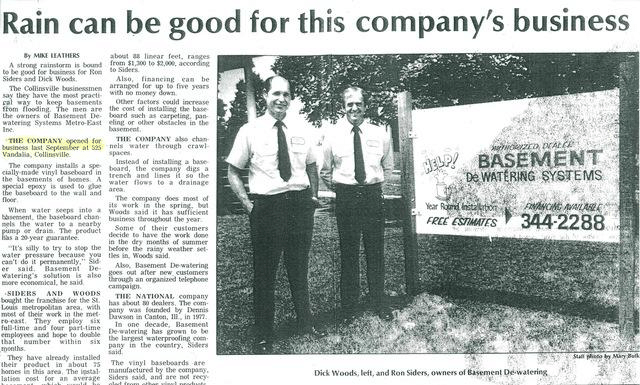 This August Woods Basement Systems is celebrating the company's 32nd anniversary.