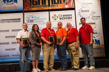 Badger Basement Systems took home three awards during the 2013 Team Basement Systems Convention held...