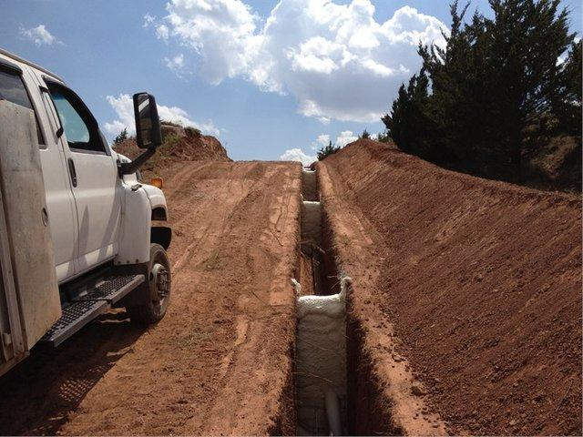 Using foam for trench breakers saves companies time and money. . .and it's safer!