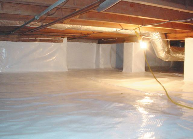 A properly encapsulated crawl space seals out moisture and makes indoor air much healthier.
