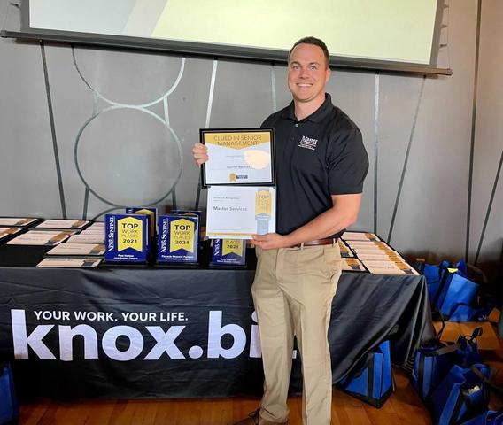 Master Services was recognized by the Knoxville News Sentinel with the 2021 Top Workplaces award, wh...