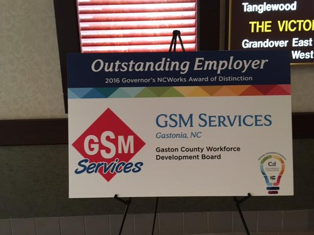 GSM RECEIVES 2016 GOVERNOR'S NCWORKS AWARD OF DISTINCTION. - Image 1