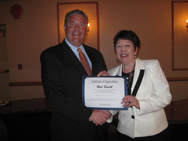 Halco President Hal Smith was awarded a certificate of appreciation for his commitment and years of ...