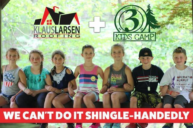Rally for a Roof! Klaus Larsen Roofing partners with Channel 3 Kids Camp