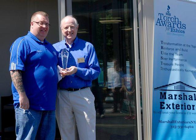 The Torch Award for Ethics was presented to Owner, Adam Olschewske on May 20, 2017