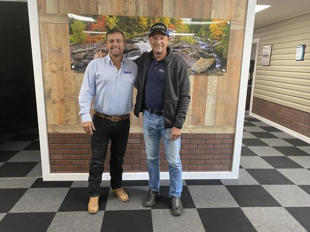 Chris Hunter, CEO and Founder of Southeast Foundation & Crawl Space Repair, at his Clinton, NC office with Larry Janesky, CEO and Founder of Contractor Nation, Inc.