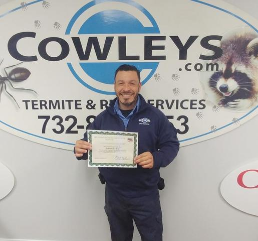 Nelson Colon with mold certification certificate