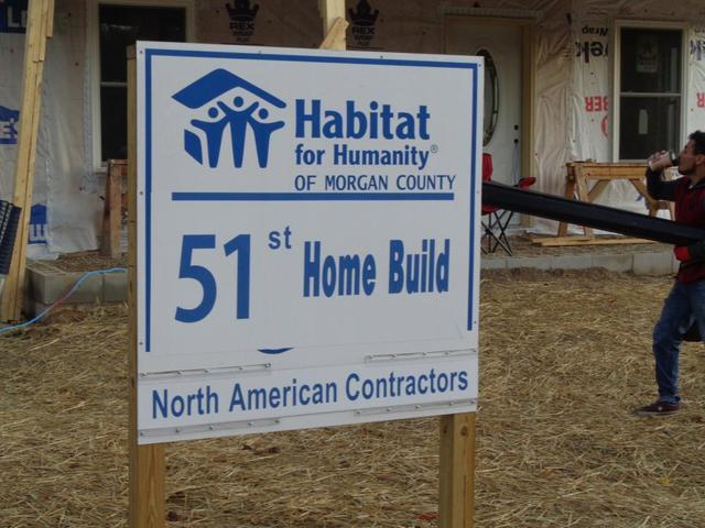 Habitat Sign Featuring North American Contractors