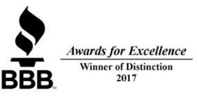 BBB Recognizes Ernie Smith & Sons Roofing with Excellence Distinction Award 2017 - Image 1