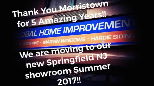 Global Home Improvement Morristown Showroom Moving to Springfield NJ