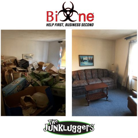 After a long week of assistance and disinfecting, Bio-One and Junkluggers of New Haven County teamed...