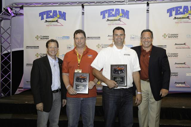 Midwest Basement Systems were big winners this year, winning 4 awards at the 2013 Team Basement Systems Dealer Conention