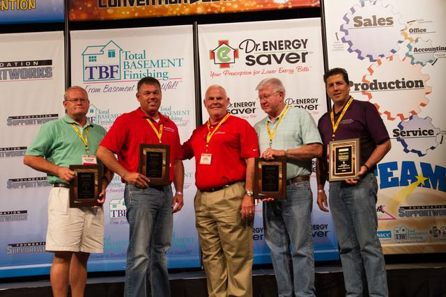 Sure-Dry Basement Systems wins three awards at this year's Basement Systems Dealer Convention.