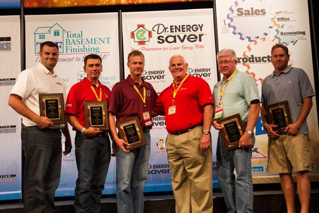 Woods Basement Systems won seven awards for their excellent services and performance at the 2013 Team Basement Systems Convention.